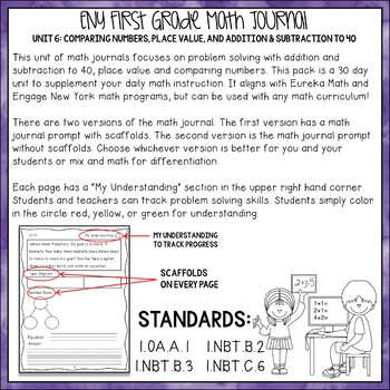 Math Journal Unit 6: Comparison, Place Value, and Addition & Subtraction