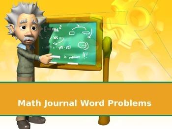 Math Journal Word Problems
