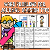 Math Journal Word Problems: Type Division