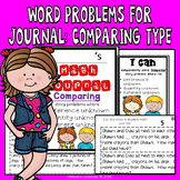 Math Journal Word Problems: Type comparing