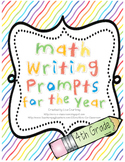 Math Journal Writing Prompts for the Year! - Common Core Aligned - 4th grade