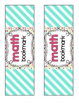 Math Journal bookmark