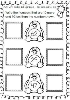 First Grade Math for the Year