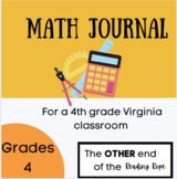 Math Journal for a Virginia 4th grade classroom