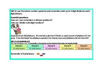 Math Journaling for Dividing 1 Digit Divisor by Multi-Digit Dividend
