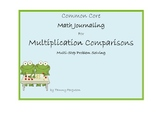 Math Journaling for Multiplication Comparisons