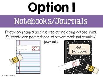 Math Journals:  Addition & Subtraction Strategies to 10
