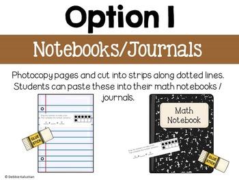 Math Journals:  Addition & Subtraction Strategies to 20