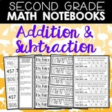 Math Notebooks: Addition and Subtraction for Second Grade