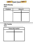 Math Journals: Daily Data Recording Sheets