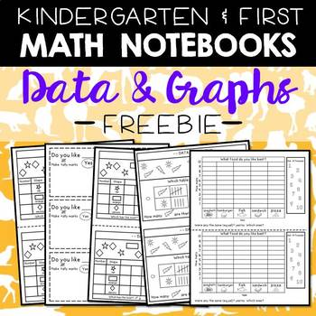 Math Journals: Data & Graphs Printables for K-1