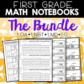 Math Notebooks: First Grade Bundle