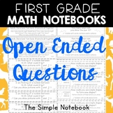 Math Notebooks: First Grade Open-Ended Questions