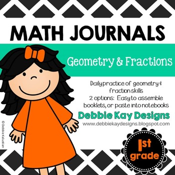 Math Journals: Geometry & Fractions by Debbie Kay Designs | TpT