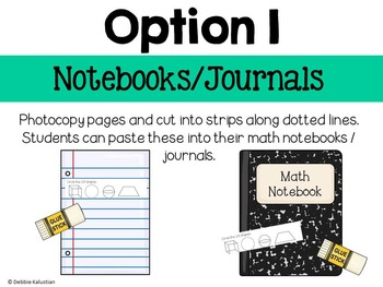 Math Journals: Geometry & Fractions