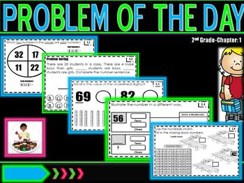 """Problem of the Day """"Go Math"""" Chapter 1 2nd Grade"""