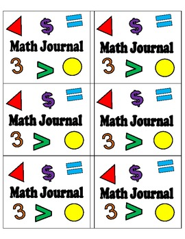 Math Journals (Labels)