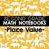 Math Journals: Place Value Printables for Second Grade (BUNDLE)