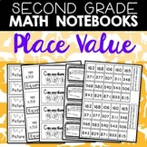 Math Journals: Place Value Printables for Second Grade (BUNDLE)