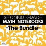 Math Notebooks: Second Grade BUNDLE