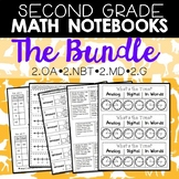 Math Notebooks: Second Grade BUNDLE