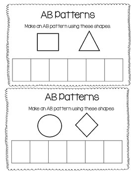 Math Journals- Shapes and Patterns