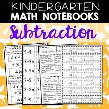 Math Notebooks: Kindergarten Subtraction