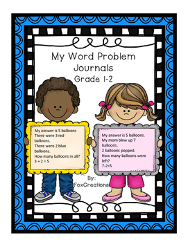 Math Journals Word Problems Made Easy! Common Core