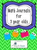 Math Journals for 3's