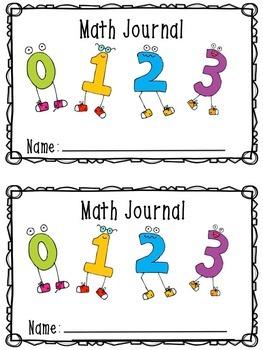 Math Journals for 4's