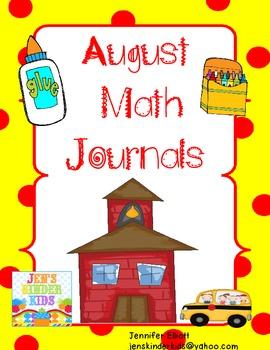Math Journals for August