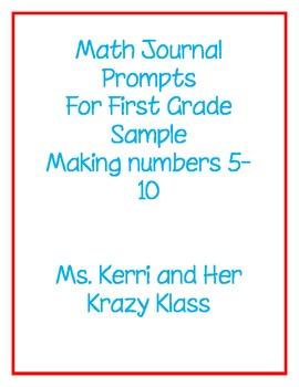 Math Journals for First Grade - Preview
