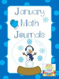 Math Journals for January