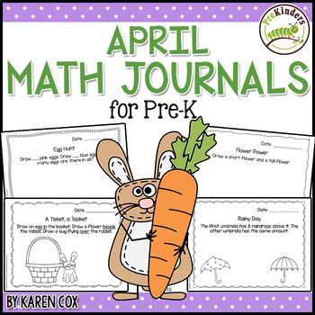 Math Journals for Pre-K: APRIL