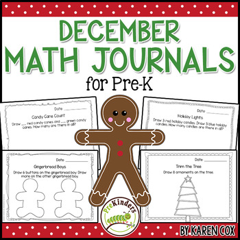 Math Journals for Pre-K: DECEMBER