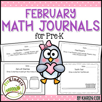 Math Journals for Pre-K: FEBRUARY