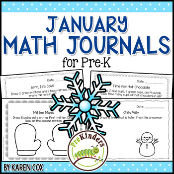 Math Journals for Pre-K: JANUARY