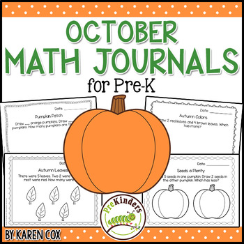 Math Journals for Pre-K: OCTOBER