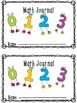 Math Journals - request by customer