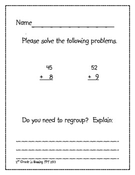 Math Journals/Centers Problem of the Day!
