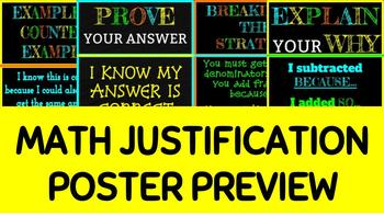 Math Justification Posters