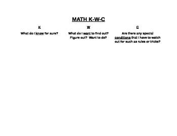 Math K-W-C Chart