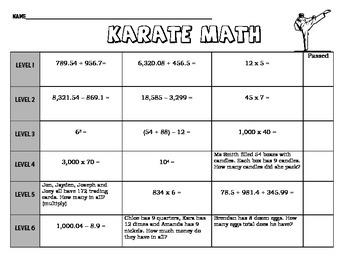 Math Karate!