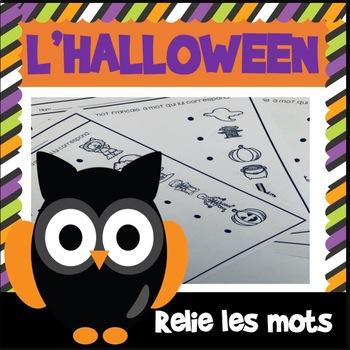 L'Halloween - Relie les mots