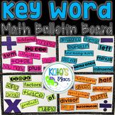Math Key Word Bulletin Board