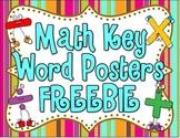 Math Key Word Posters FREEBIE!