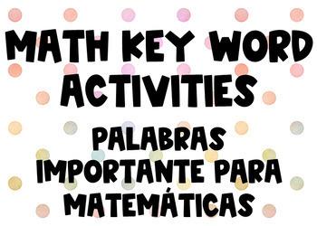 Math Key Words Bilingual Boom Cards