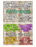 Math Key Words Bulletin Board