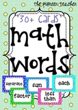 Math [Key] Words Cards [30+ Cards]
