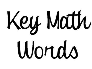 Math Key Words Display